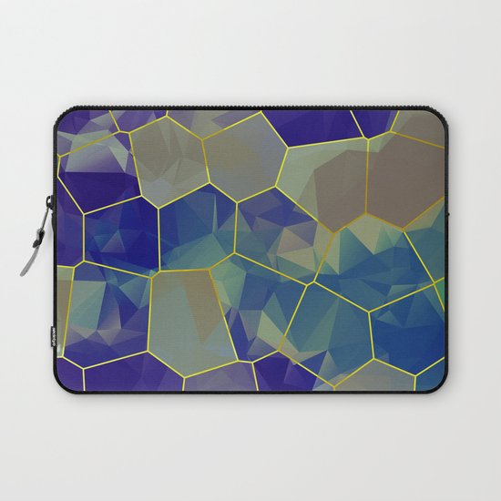 Stained Glass Polygons Laptop Sleeve