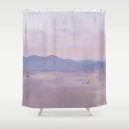 Pink Desert Sunset Shower Curtain