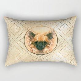Watercolor art Chihuahua Painting Rectangular Pillow