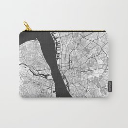 Liverpool Map Gray Carry-All Pouch