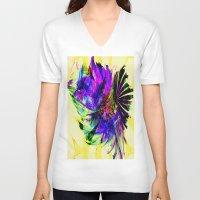 fancy V-neck T-shirts featuring Fancy by Art-Motiva
