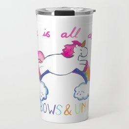 Rainbow Unicorn Travel Mug