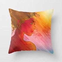 Independent Woman Sunset Throw Pillow