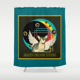 Ninja Angel Orbs Shower Curtain