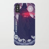 darth vader iPhone & iPod Cases featuring Darth Vader  by NicoleGrahamART