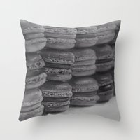 macaroons Throw Pillows featuring macaroons by Amit Naftali