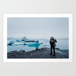 ALIENS IN ICELAND // Art Print