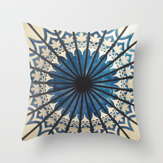 Blue orient  Throw Pillow