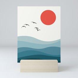 Minimalist seascape I Mini Art Print