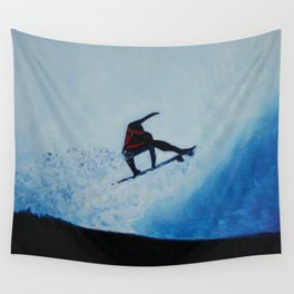 BLUE SURF Wall Tapestry
