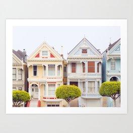 Painted Ladies - San Francisco Travel Photography Art Print