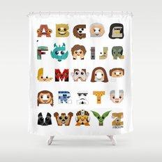 ABC3PO Shower Curtain