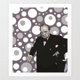 Winston Churchill and His Polka Dots Art Print