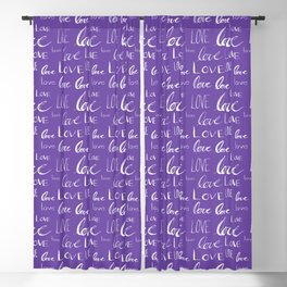 Words of Love // Purple Blackout Curtain