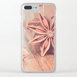Anise, milk chocolate and coffee beans Clear iPhone Case