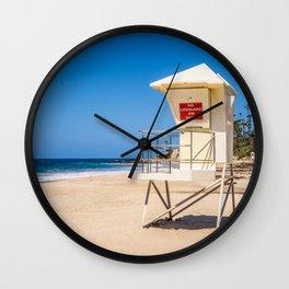 Laguna Beach California Lifeguard Tower Wall Clock
