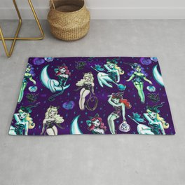 Witches and Black Cats Rug