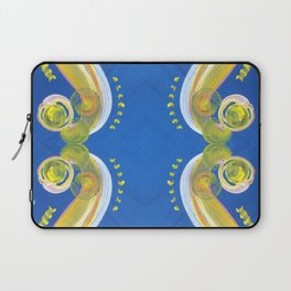 Transitions - Yellow Blue Reflections - Safe or Trapped? Laptop Sleeve