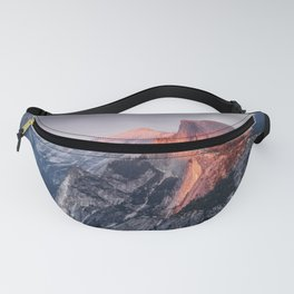 Sunset in Yosemite National Park, North America from Glacier Point  view Fanny Pack