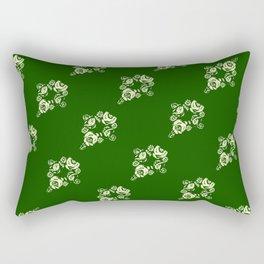Canalflowers on green pattern Rectangular Pillow