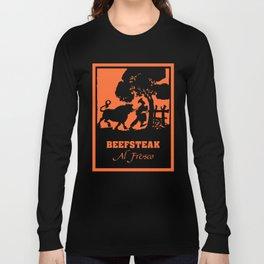 Beefsteak al fresco, silhouette art Long Sleeve T-shirt