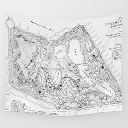 Vintage Map of Prospect Park (1901) Wall Tapestry