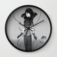 poetry Wall Clocks featuring Poetry by Fanni Budaházi