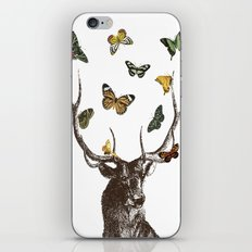 The Stag and Butterflies iPhone & iPod Skin