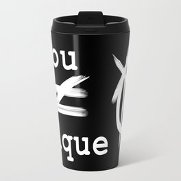 you do not equal unique (white) Travel Mug