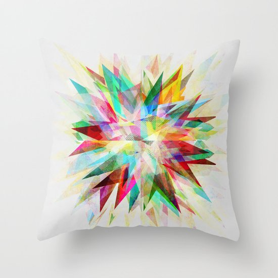 Colorful 6 Throw Pillow