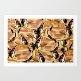 Crowd Fish 5 Art Print