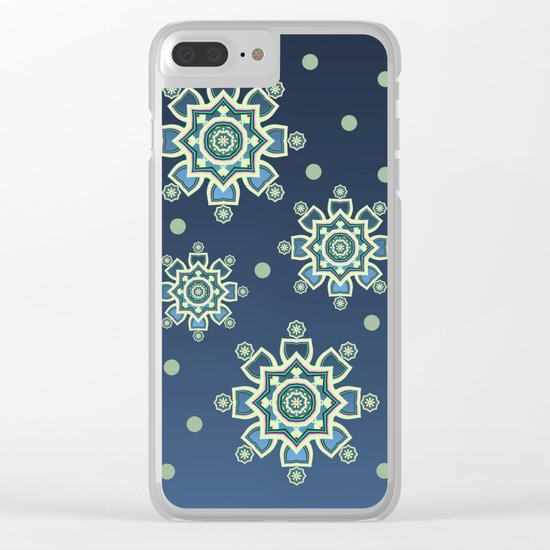 Celtic Snowflake Clear iPhone Case