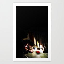 Scales Lake_1 Art Print