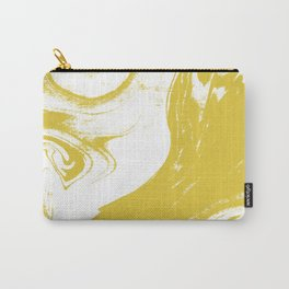 Suminagashi 1 gold marble spilled ink ocean swirl watercolor painting marbled pattern Carry-All Pouch