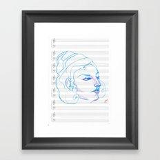 Music to My Eyes Framed Art Print