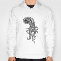 clockwork Hoodies featuring clockwork octopus by vasodelirium