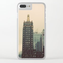 Carbide and Carbon Building Chicago Clear iPhone Case