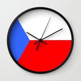 flag of Czech 2 -Czechia,Česko,Bohemia,Moravia, Silesia,Prague. Wall Clock