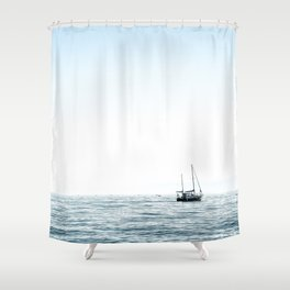 BOAT - WATER - OCEAN - SEA - PHOTOGRAPHY Shower Curtain