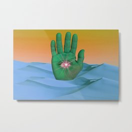 Mystical Gesture Metal Print