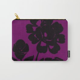 Royal Purple Rose Silhouette Original Design Done with Acrylics Carry-All Pouch