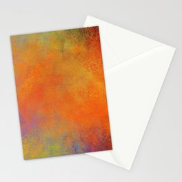 Colorful Abstract Orange Yellow Purple Red Stationery Cards