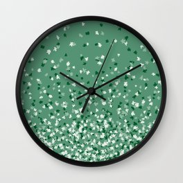 Floating Confetti Dots - Evergreen Wall Clock