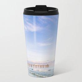 Watercolor Sunset at Okaloosa Island Pier Travel Mug