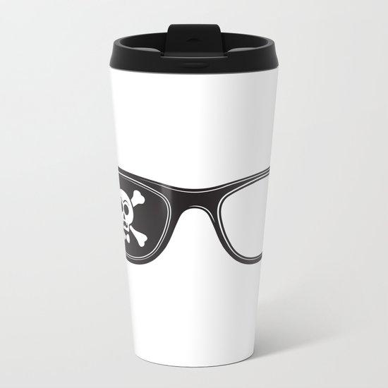 Hipster Pirate Metal Travel Mug