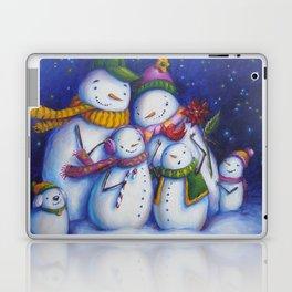 Snow Family Portrait Laptop & iPad Skin