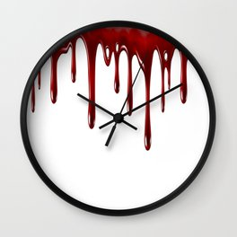 Blood Dripping White Wall Clock