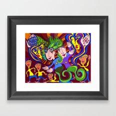Playdough People Framed Art Print