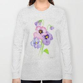 Pretty Pansies Long Sleeve T-shirt