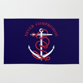 THE SAILOR IS NEVER COMPROMISE Rug